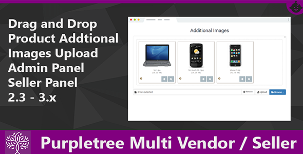 Drag & Drop Product Images Purpletree Multi Vendor-Seller Op..